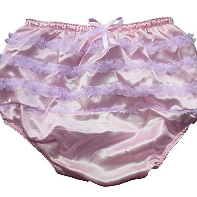 Haian-ABDL-PVC-Satin-Panties-Frilly-Rumba-Pants-Color-Pink-0