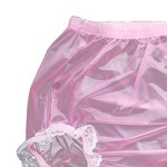 Haian-Adult-Incontinence-Pull-on-Plastic-Pants-Lace-Panties-Color-Transparent-Pink-With-White-Lace-0-2