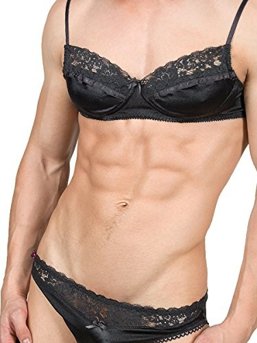 Mens-Smooth-Satin-and-Lace-Bra-0
