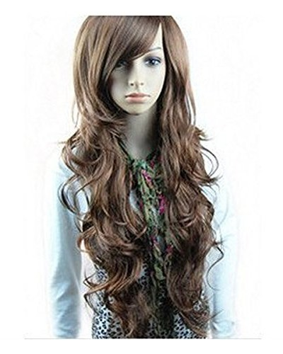 New-Two-Tone-Long-Wavy-Highlight-Hair-Wig-Wigs-0